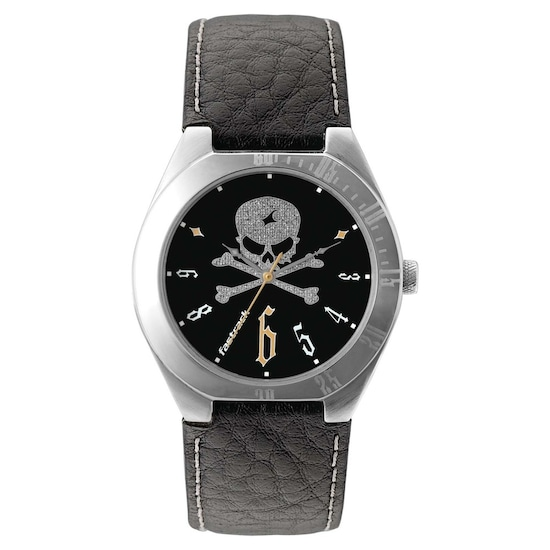 6e3c30267 Buy Fastrack Analog Black Round Dial Leather Strap Watch for Guys ...