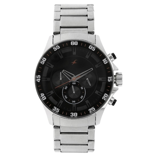 965335dc1 Buy Fastrack Black Round Dial Metal Strap Chronograph Watches For ...