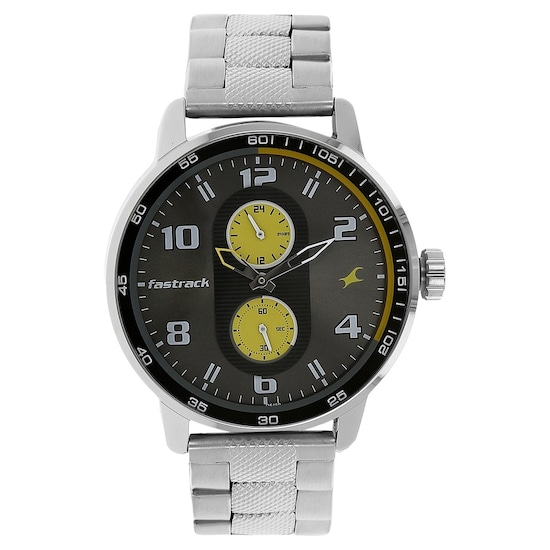Motorheads Grey Dial Stainless Steel Strap Watch