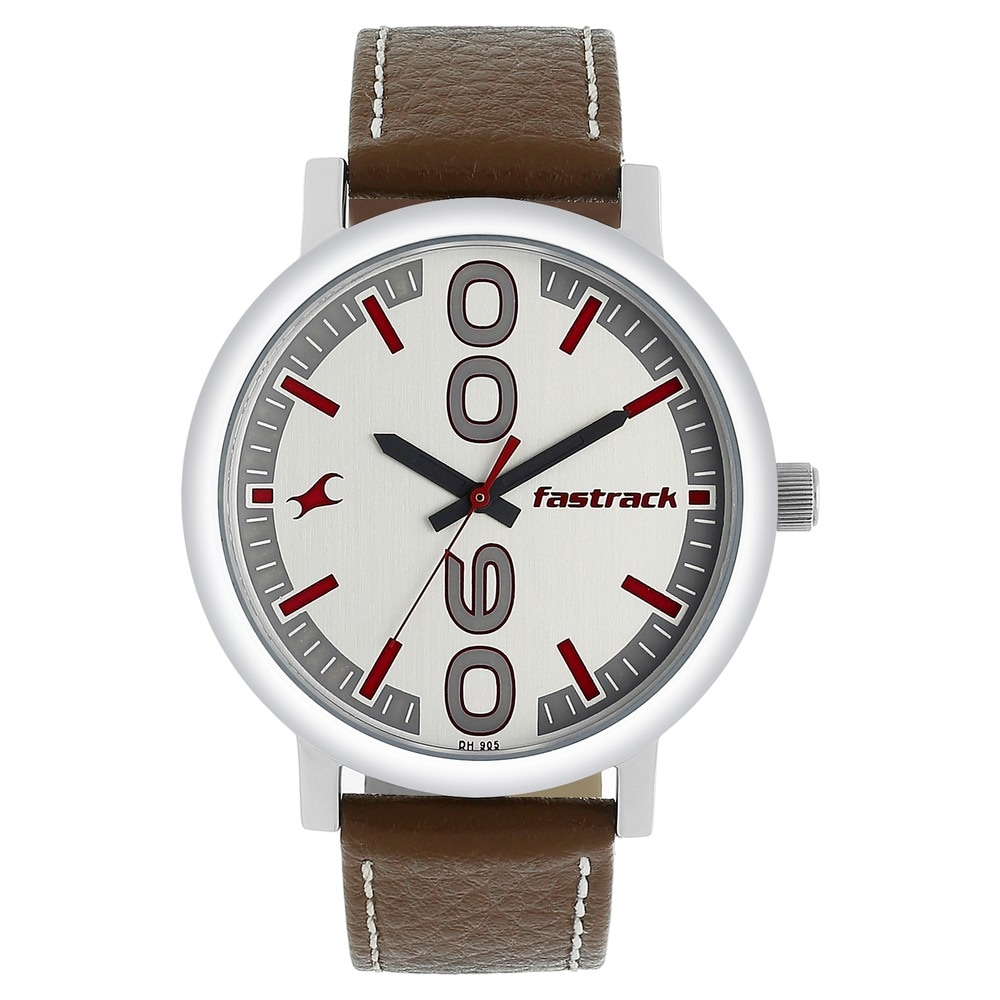 157fd054fc Buy Fastrack White Round Dial Leather Strap Analog Watches For Guys  38052SL07 Buy Online at Best Price in India : Titan.co.in | Fastrack