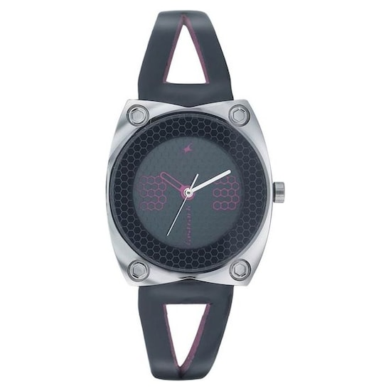 7903a5e5c Buy Fastrack Analog Grey Round Dial Leather Strap Watch for Girls ...