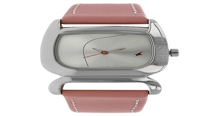 buy fastrack silver special dial leather strap analog