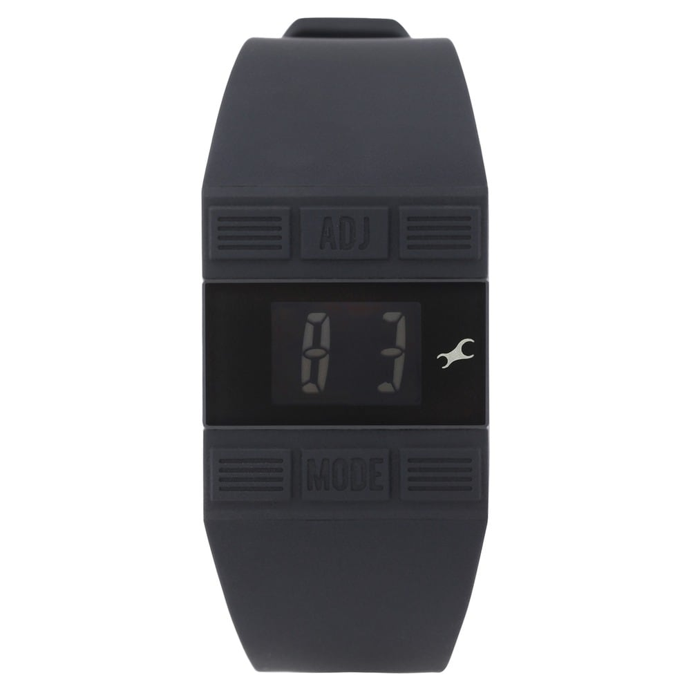 Buy Fastrack Black Rectangle Dial TPU (Thermoplastic