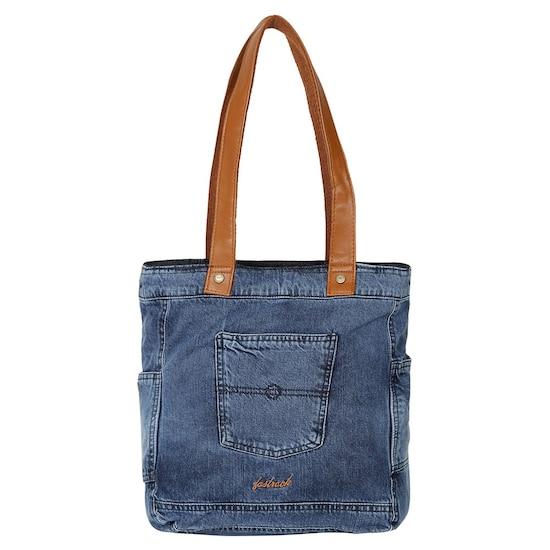 arrives newest collection 100% genuine Blue Denim Tote Bag