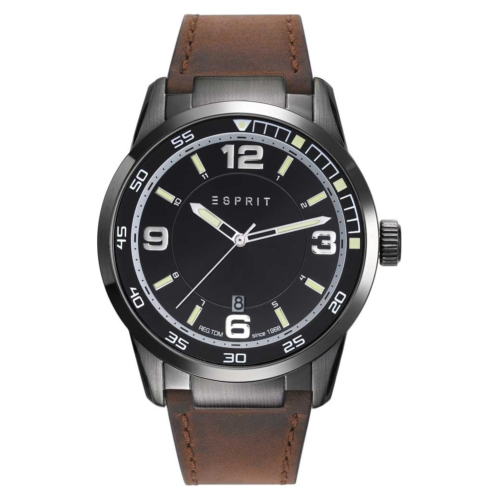 ddd9ea725a03 Buy Esprit Black Round Dial Leather Strap Analog Watches For Men  ES109441002 Buy Online at Best Price in India   Titan.co.in