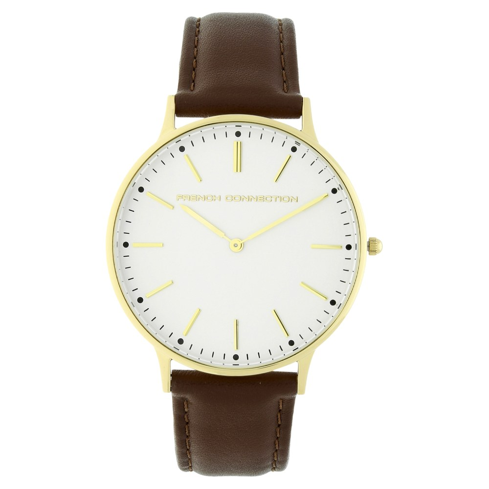 ed0280da8b8 Buy FCUK White Round Dial Leather Strap Analog Watches For Men FC1288TTJ Buy  Online at Best Price in India : Titan.co.in | Titan