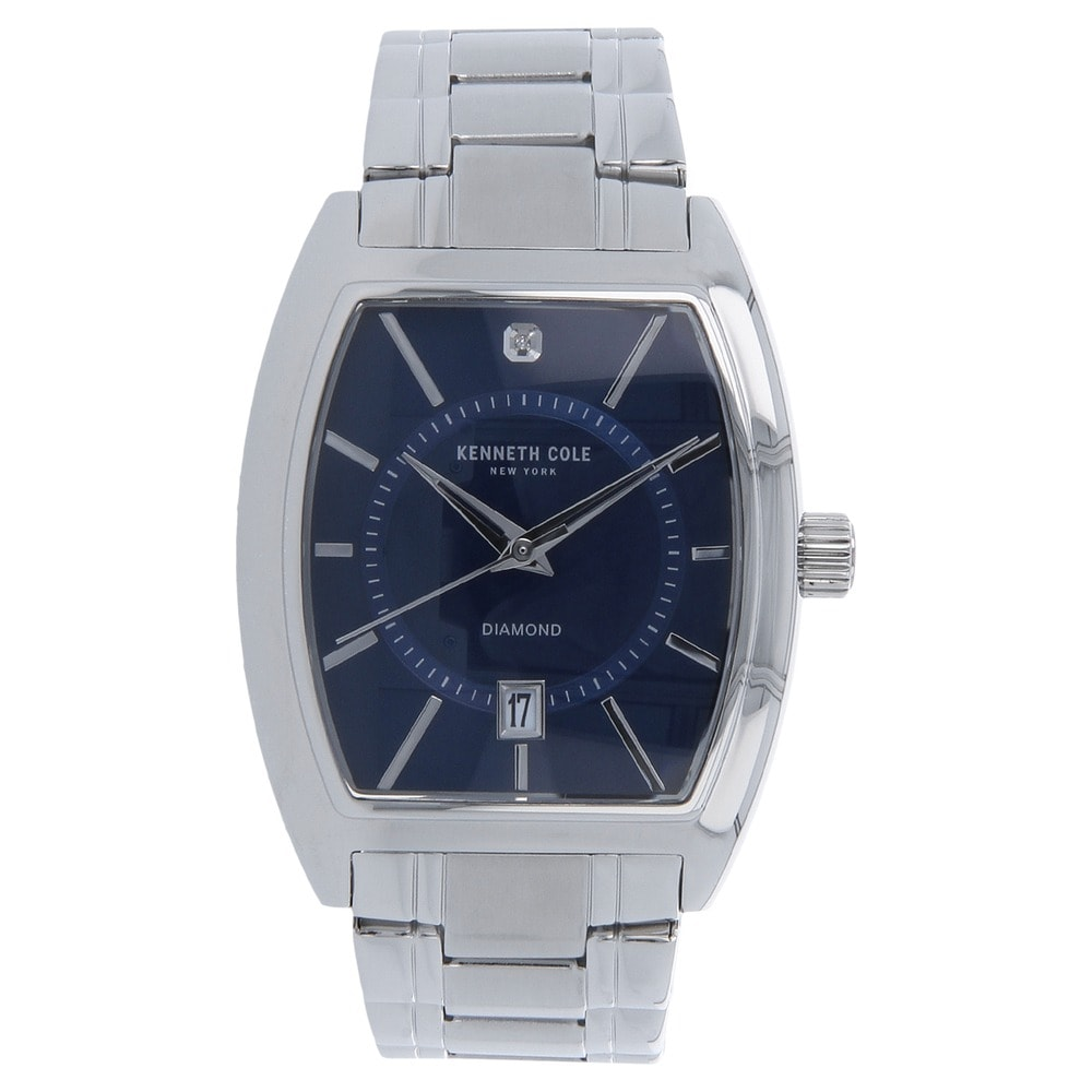 df4a649c70e Loading zoom. Kenneth Cole Men s Reaction Watch ... Blue Dial Silver  Stainless Steel Strap Watch