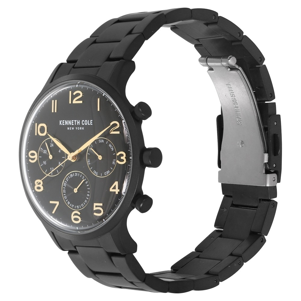 740289636ee Black Dial Black Metal Strap Watch. Kenneth Cole New York Automatic Men s  ...