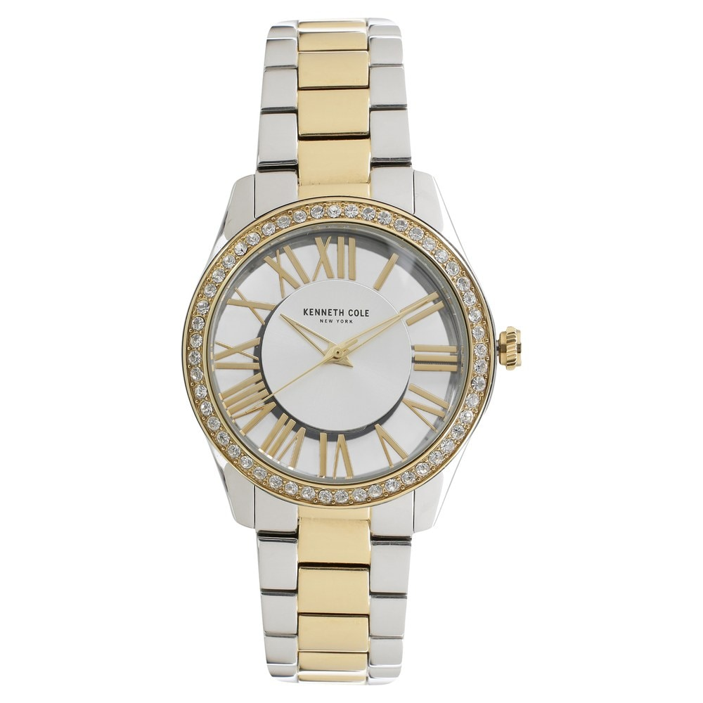 87e57f5667 Silver Dial Two Toned Stainless Steel Strap Watch