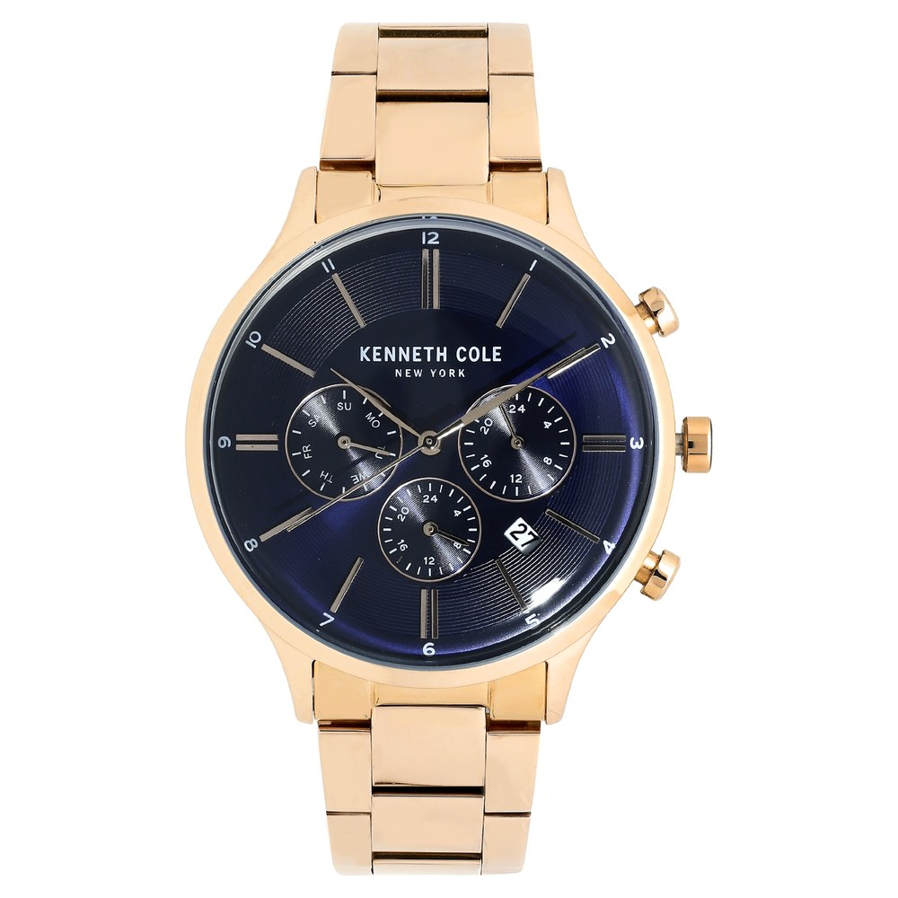 Buy Kenneth Cole Blue Round Dial Stainless Steel Strap Multifunction