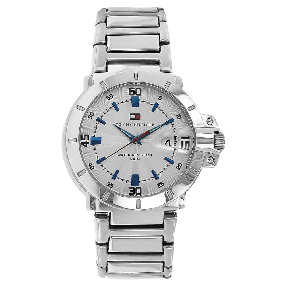 ny liste top kvalitet stor rabat Silver Dial Silver Bi Metal Strap Watch