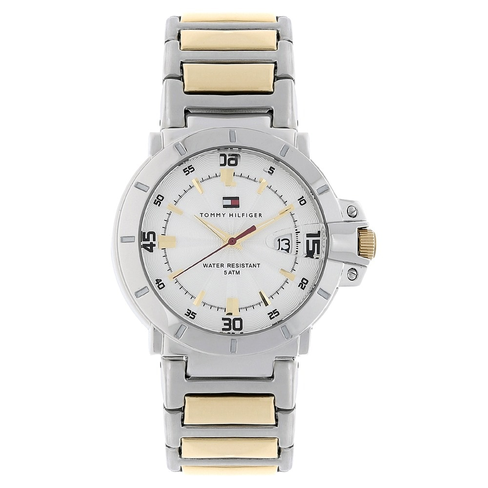 Buy Tommy Hilfiger White Round Dial Stainless Steel Strap Analog