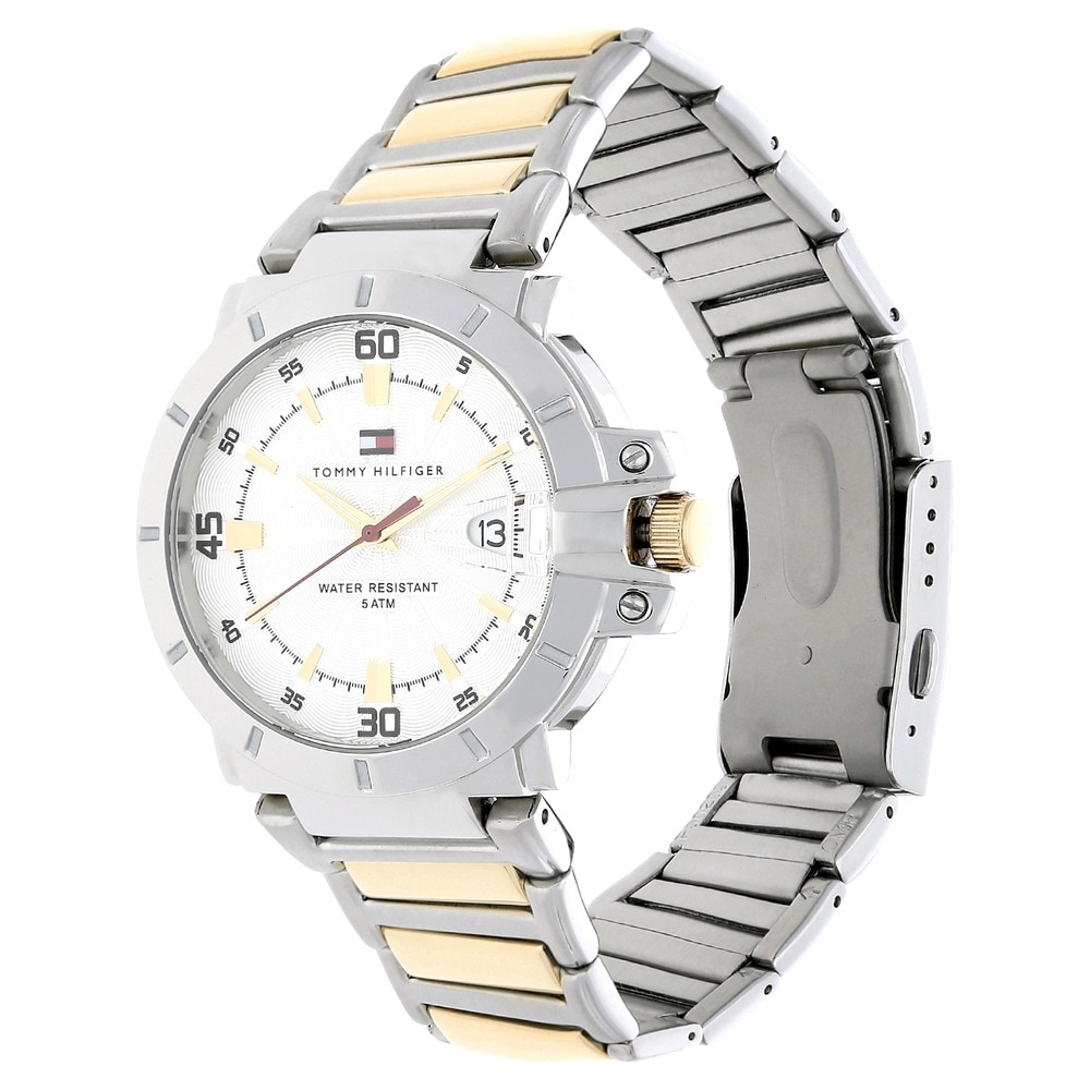 god tekstur detaljering sød billig White Dial Silver Stainless Steel Strap Watch