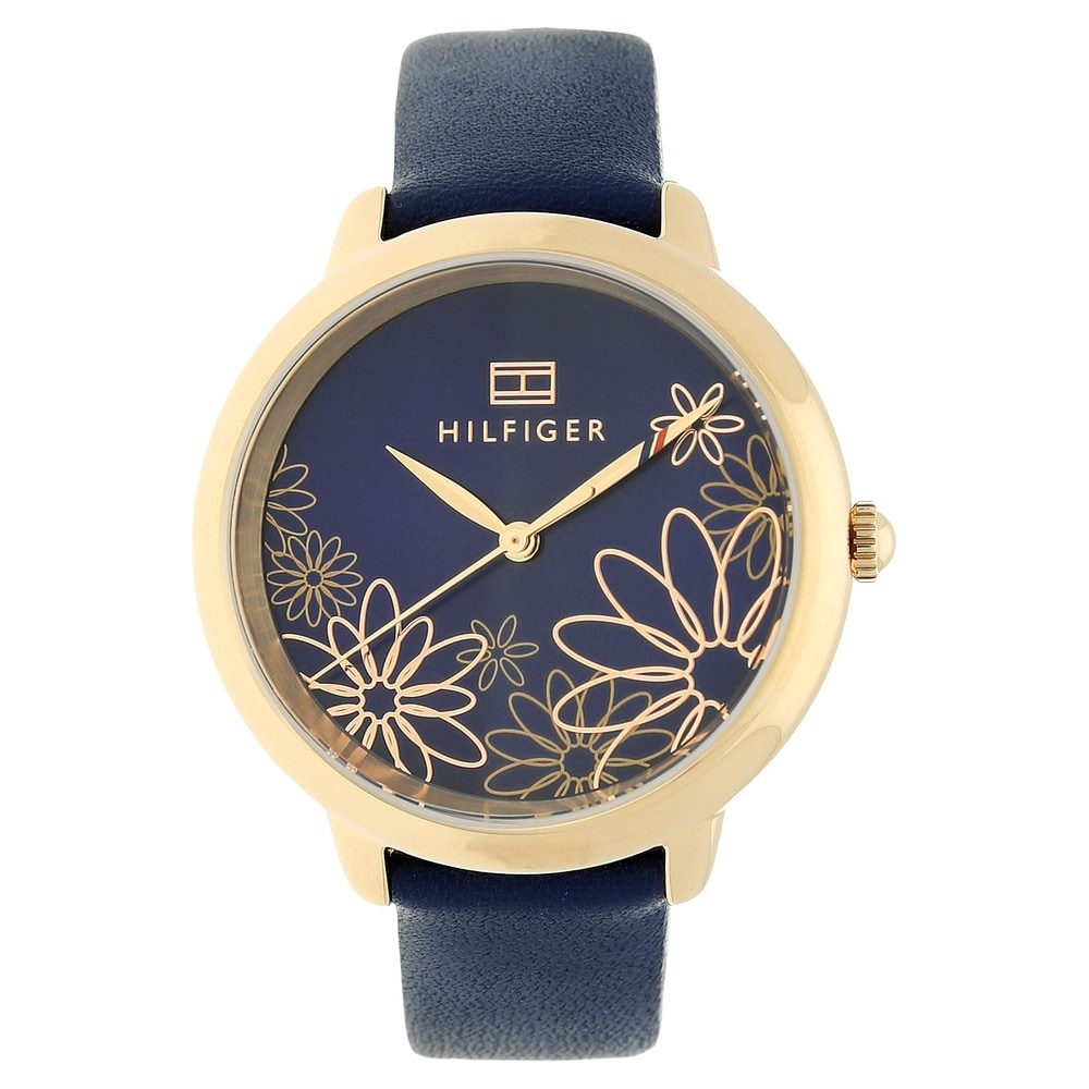 f74acd75 Buy Tommy Hilfiger Blue Round Dial Leather Strap Analog Watches For ...