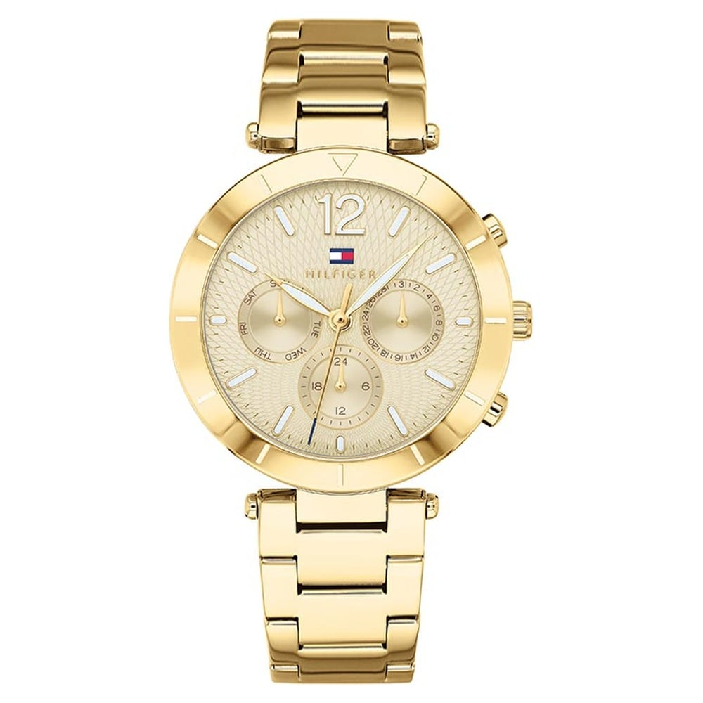 5d38e46b Buy Tommy Hilfiger Golden Round Dial Multifunction Watches For Women  TH1781878 Buy Online at Best Price in India : Titan.co.in | Titan