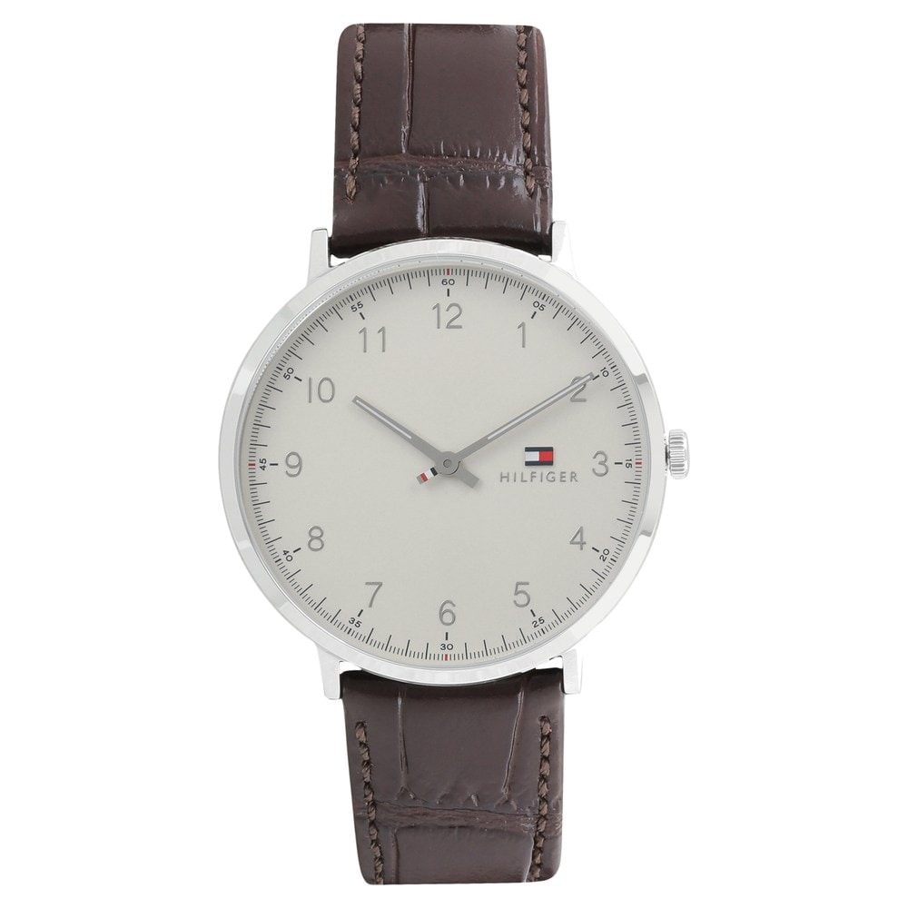 f5e16a893 ... Tommy Hilfiger; Beige Dial Brown Leather Strap Watch. Prev. TH1791338_P  ANGLEIMAGES_FULLIMAGE 1