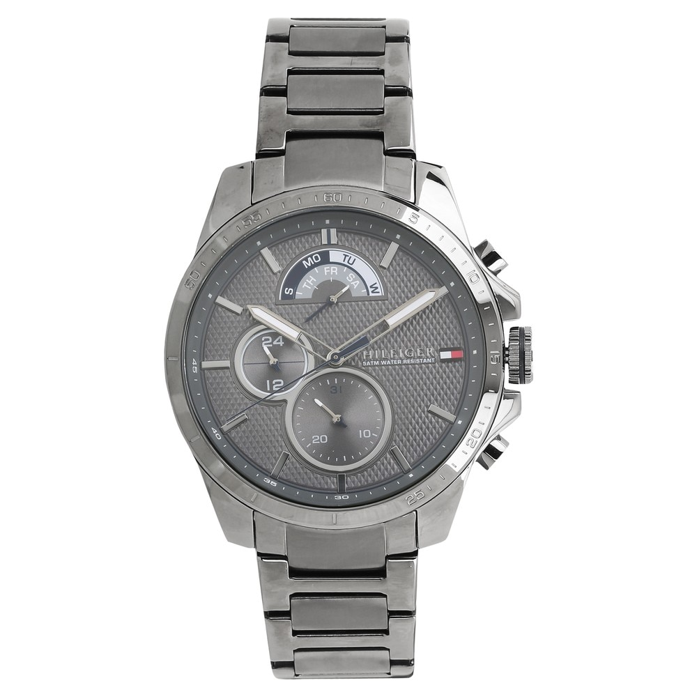 Buy Tommy Hilfiger Grey Round Dial Stainless Steel Strap