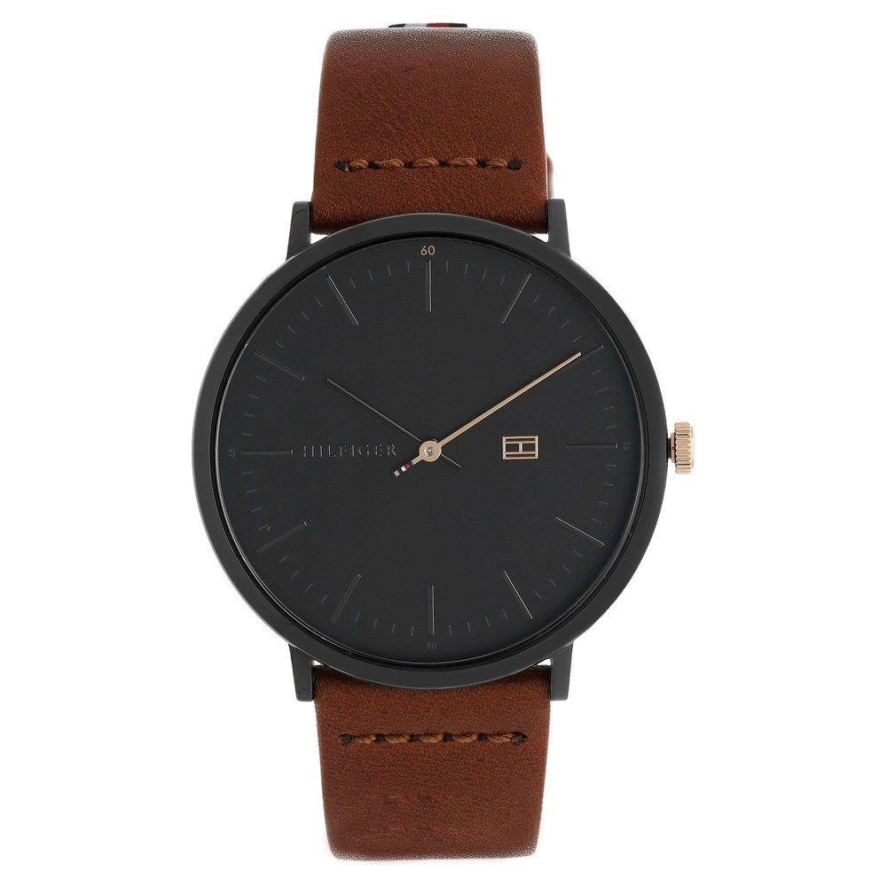 4ea163e72b Buy Tommy Hilfiger Black Round Dial Leather Strap Analog Watches For Men  TH1791461 Buy Online at Best Price in India : Titan.co.in | Titan
