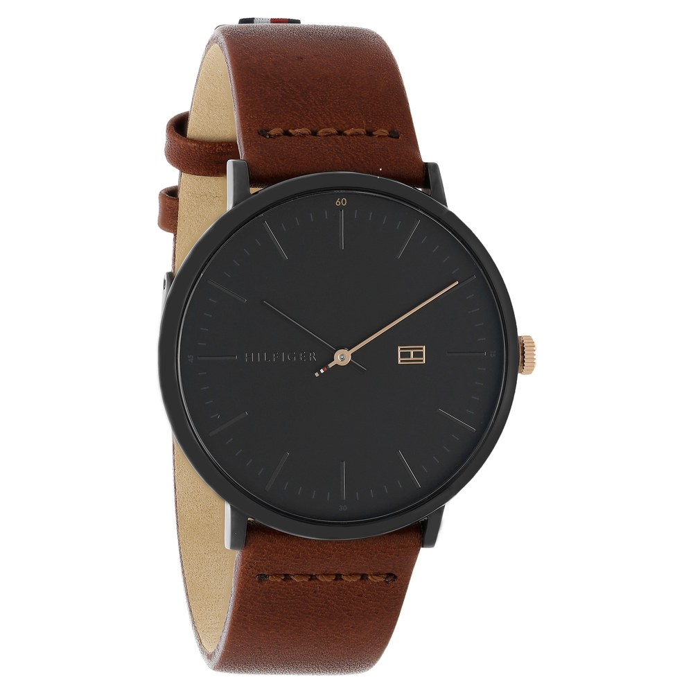 c591af1e Buy Tommy Hilfiger Black Round Dial Leather Strap Analog Watches For Men  TH1791461 Buy Online at Best Price in India : Titan.co.in | Titan