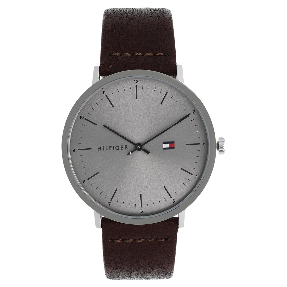7c85e6fb Buy Tommy Hilfiger Grey Round Dial Leather Strap Analog Watches For Men  TH1791463 Buy Online at Best Price in India : Titan.co.in | Titan