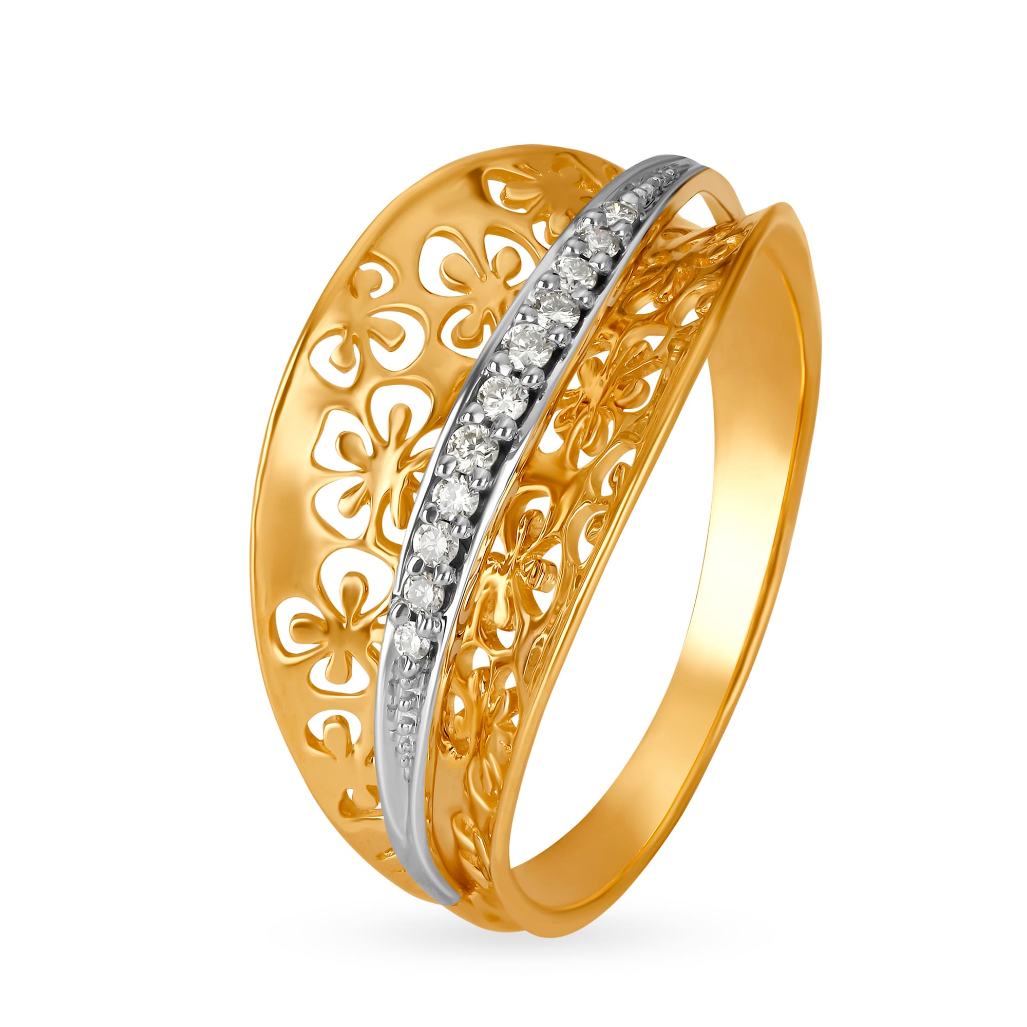7a105771d Mia by Tanishq 14KT Yellow And White Gold Finger Ring w.