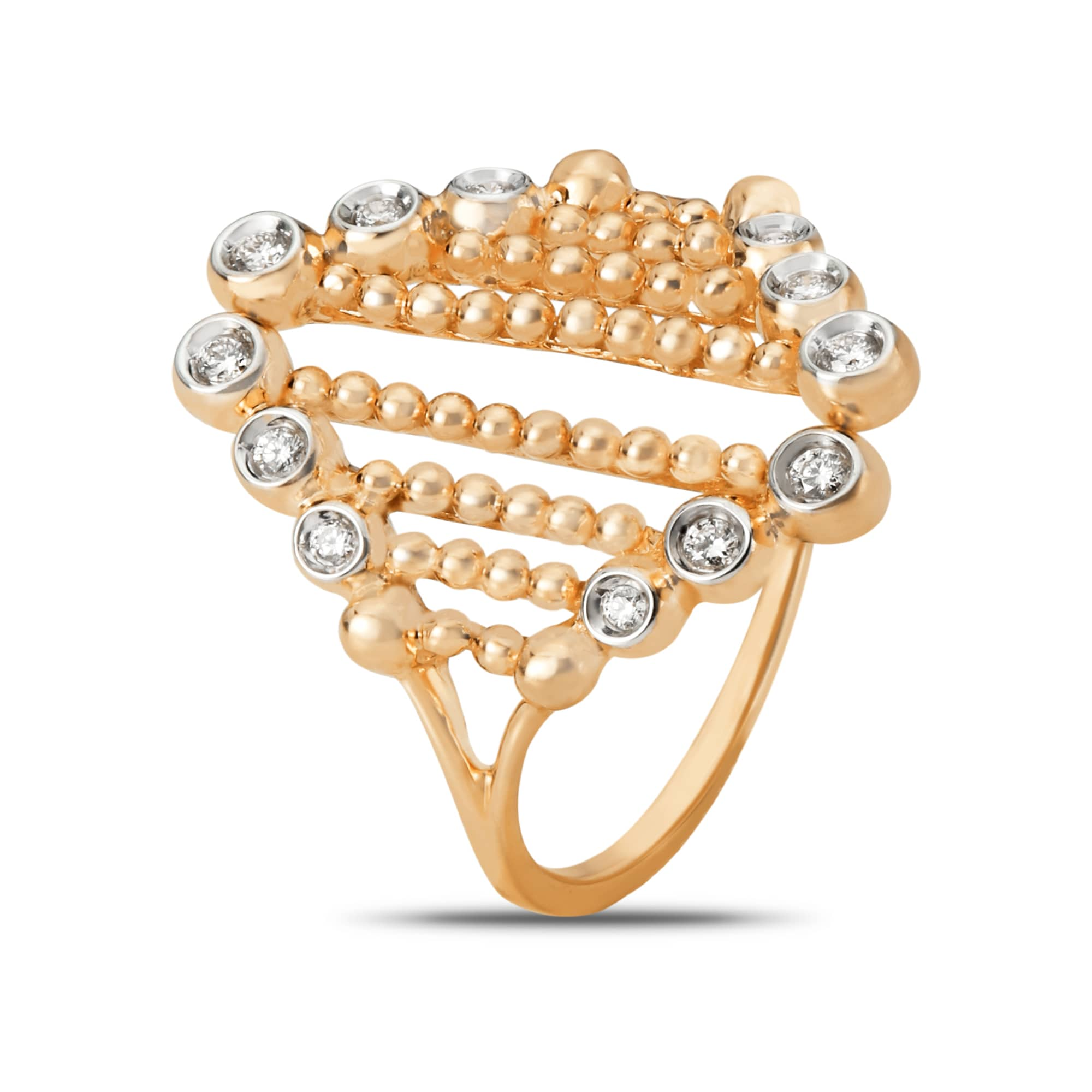 8ae2148fc74c4 Mia All-Rounders by Tanishq 14KT Yellow Gold Diamond Finger Ring with  Triangle Design