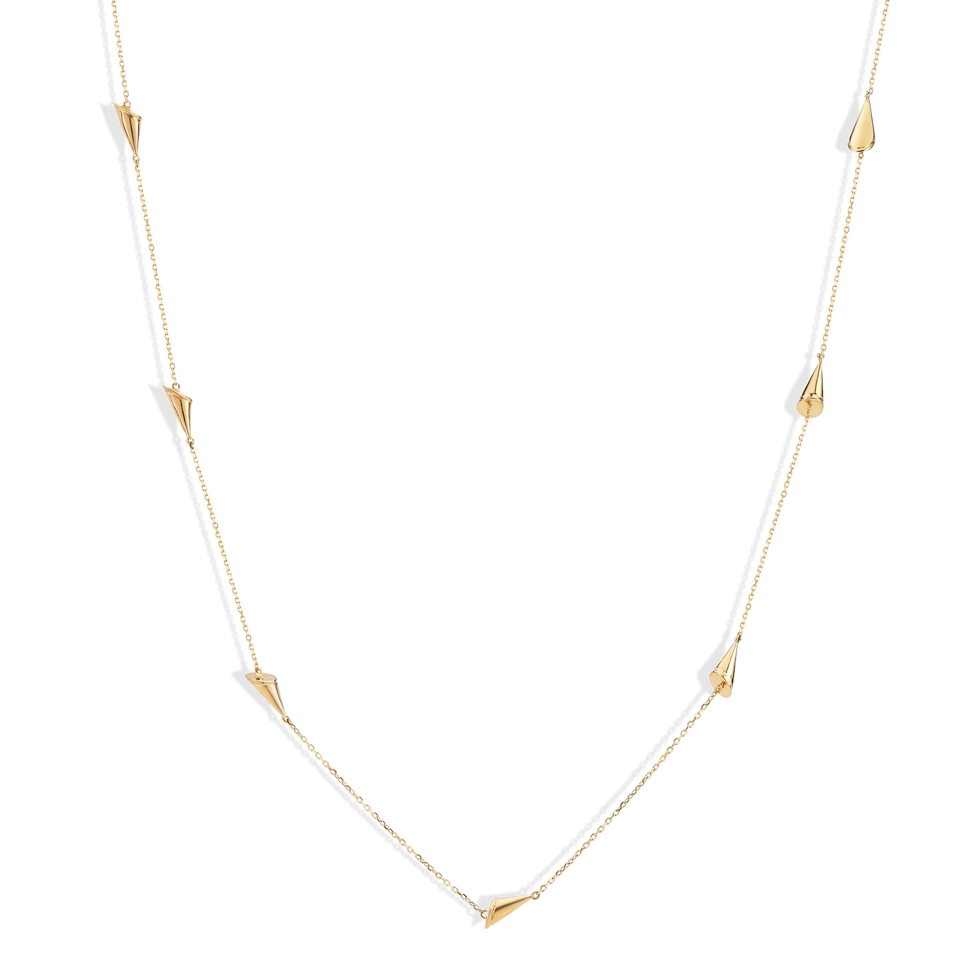 Mia Multitaskers by Tanishq 14KT Yellow Gold Necklace with Cone Design
