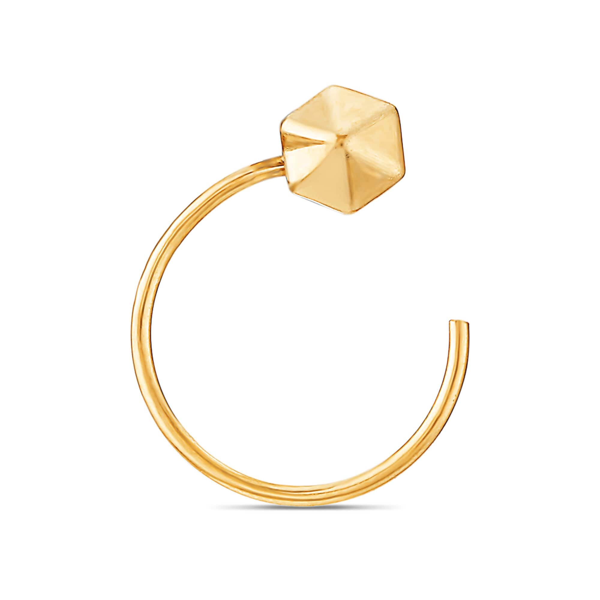 Mia Everyday Essentials By Tanishq 14kt Yellow Gold Nose Pin For