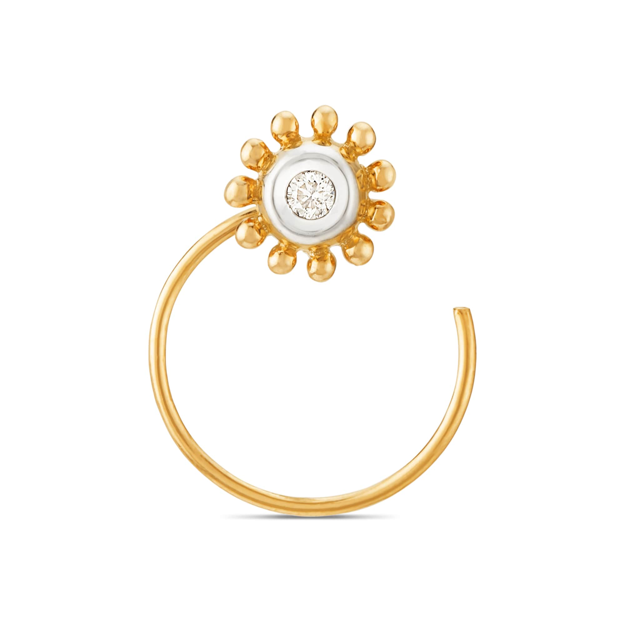 Mia Everyday Essentials By Tanishq 14kt Yellow Gold Diamond Nose