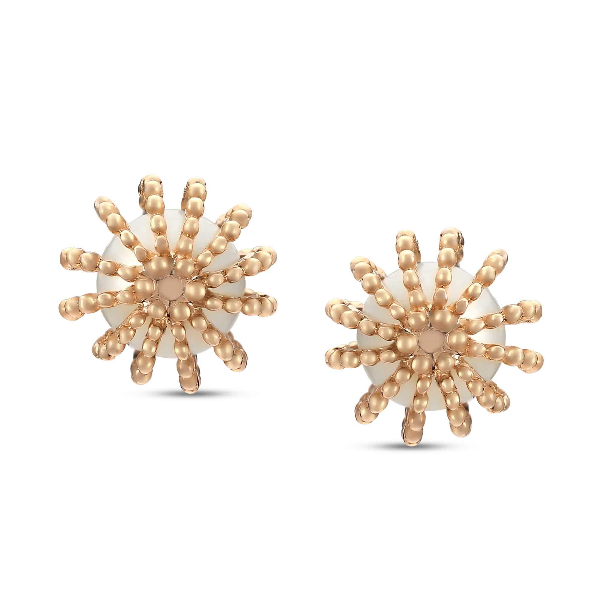 b611db30b Mia All-Rounders by Tanishq 14KT Yellow Gold Pearl Stud Earrings ...