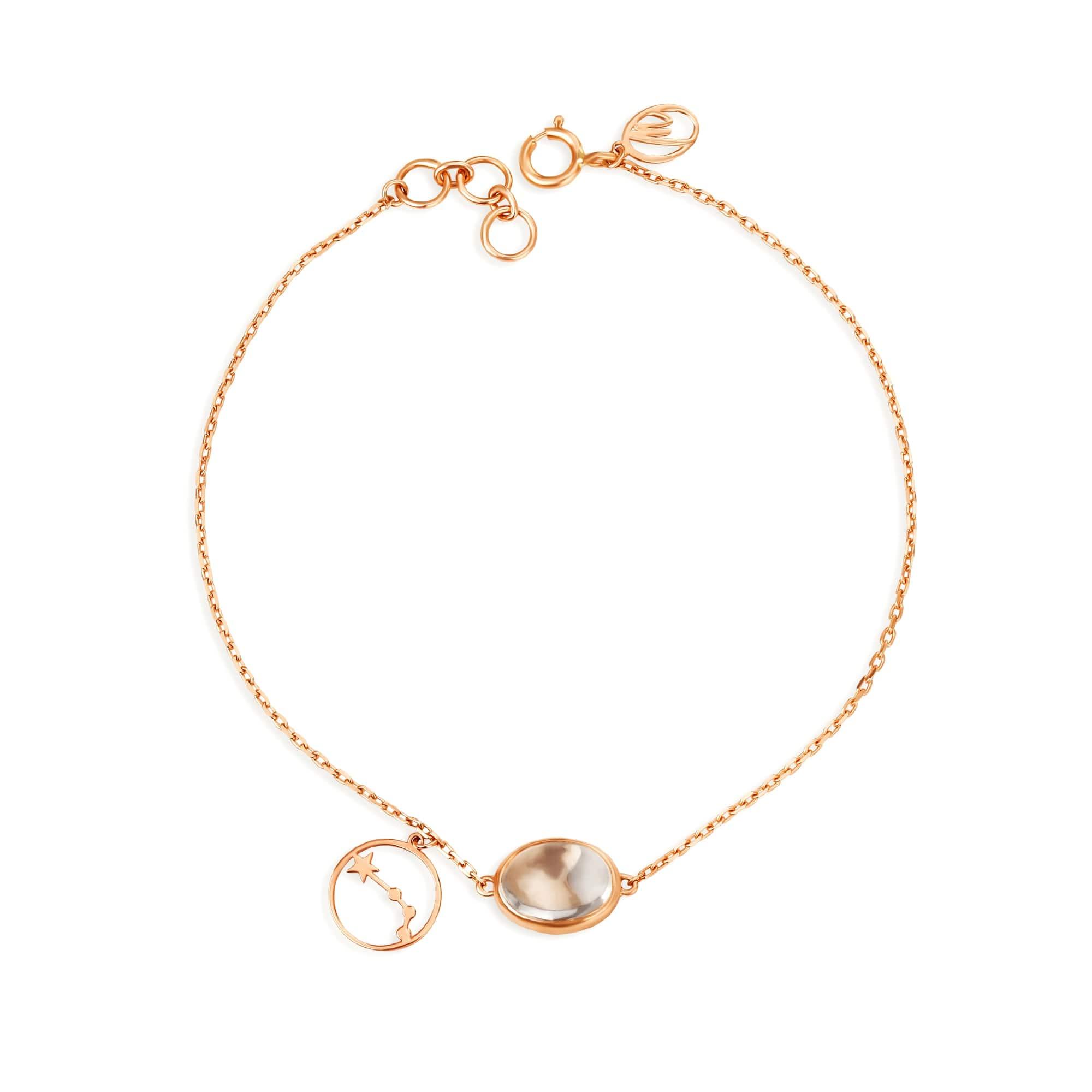 Mia By Tanishq 14kt Aries Birthstone Rose Gold Bracelet Tanishq