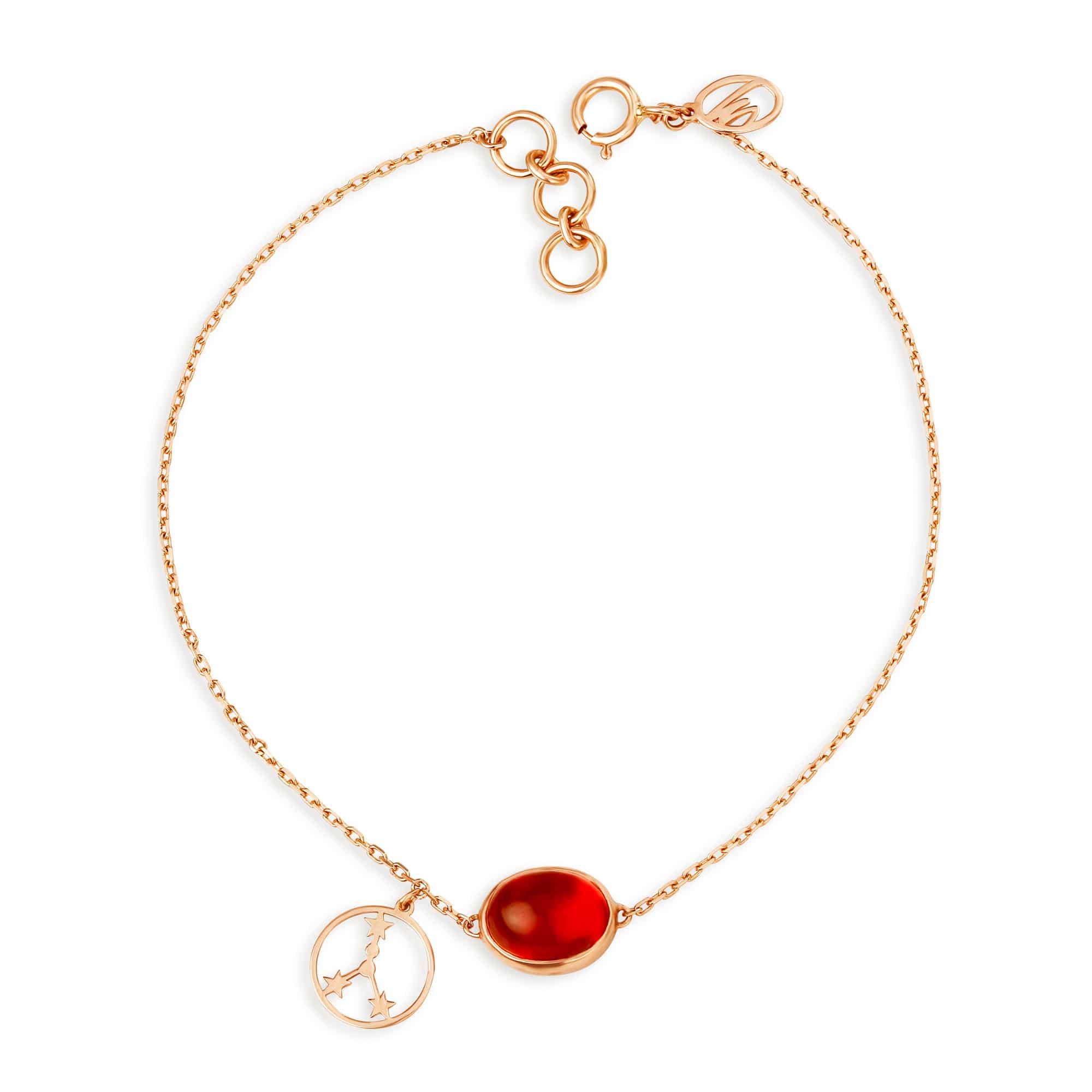 01bbf82930771 Mia by Tanishq 14KT Cancer Birthstone Rose Gold Bracelet