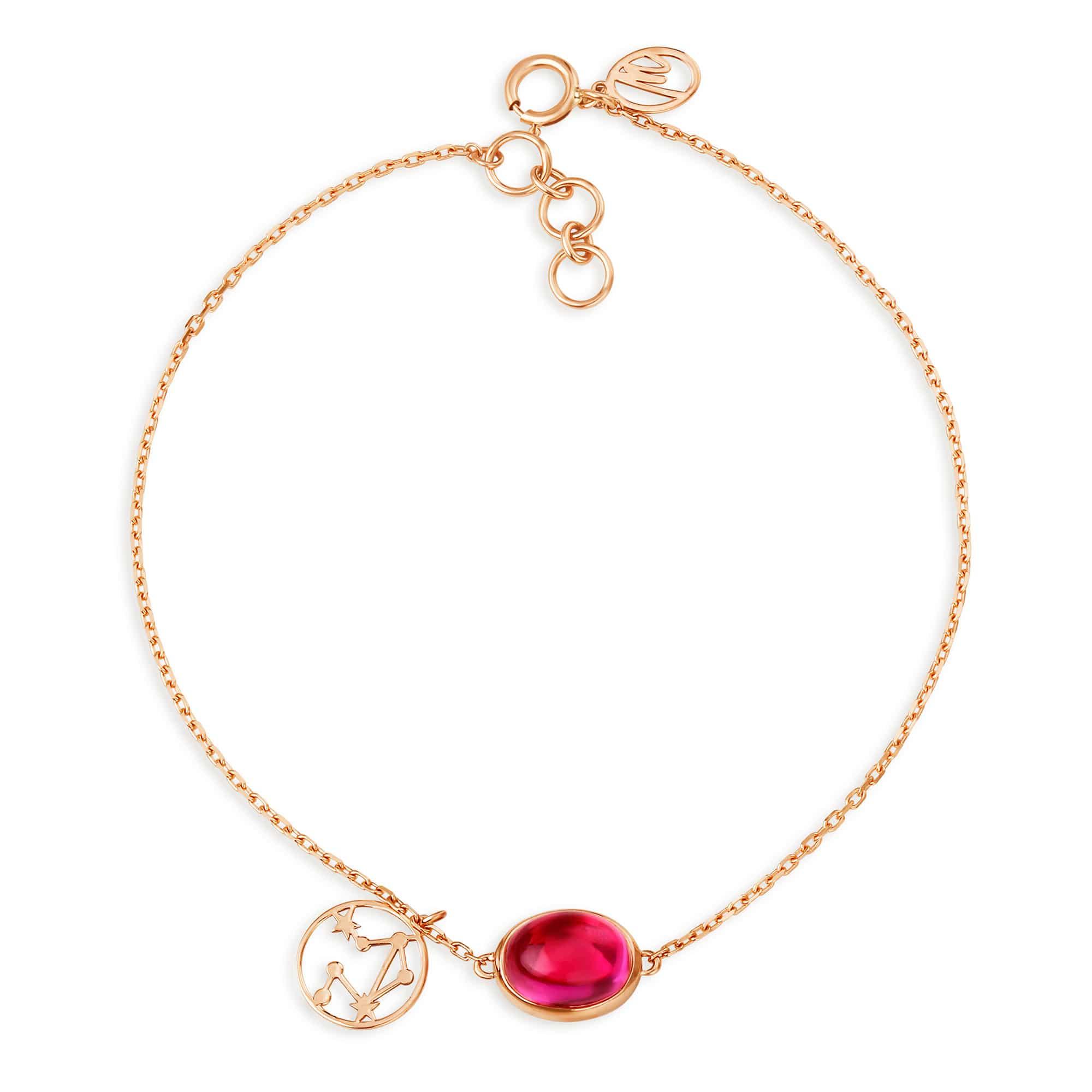 30cbed5e88a71 Mia by Tanishq 14KT Aquarius Birthstone Rose Gold Bracelet   Tanishq