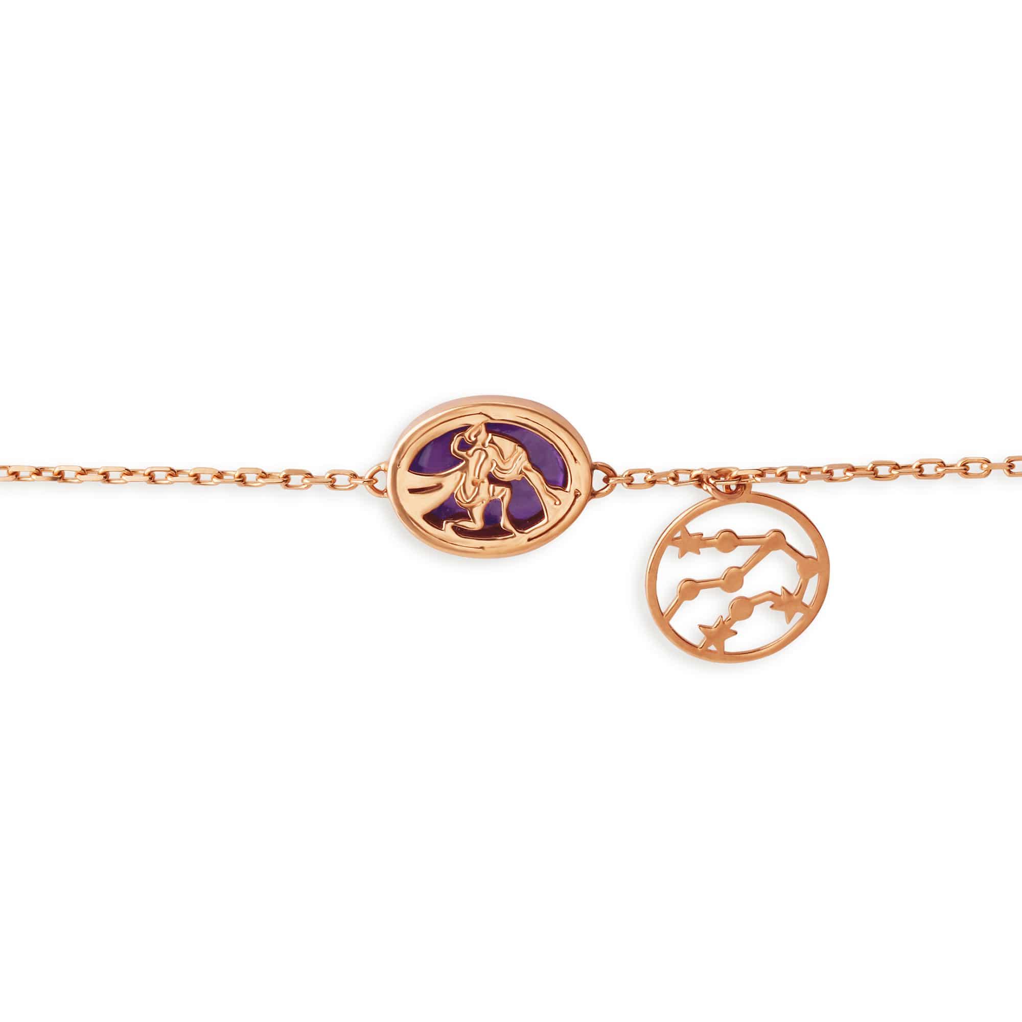 f9c30f2e75b9c Mia by Tanishq 14KT Aquarius Birthstone Rose Gold Bracelet