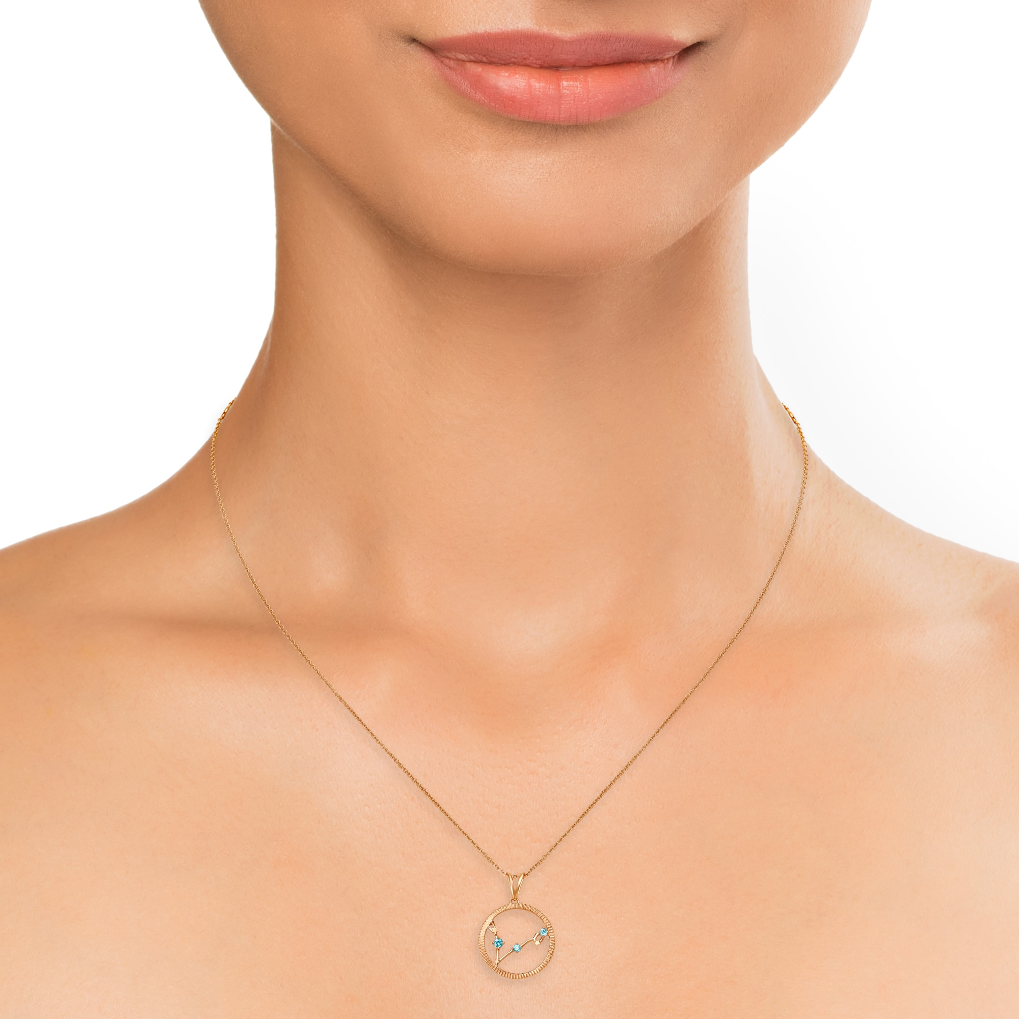 724c5870b3569 Mia by Tanishq Pisces 14KT Rose Gold Pendant and Chain