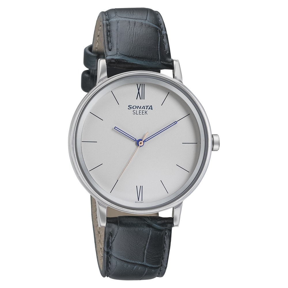 6d15868dd1d Buy Sonata White Round Dial Leather Strap Analog Watches For Men 7131SL02 Buy  Online at Best Price in India   Titan.co.in