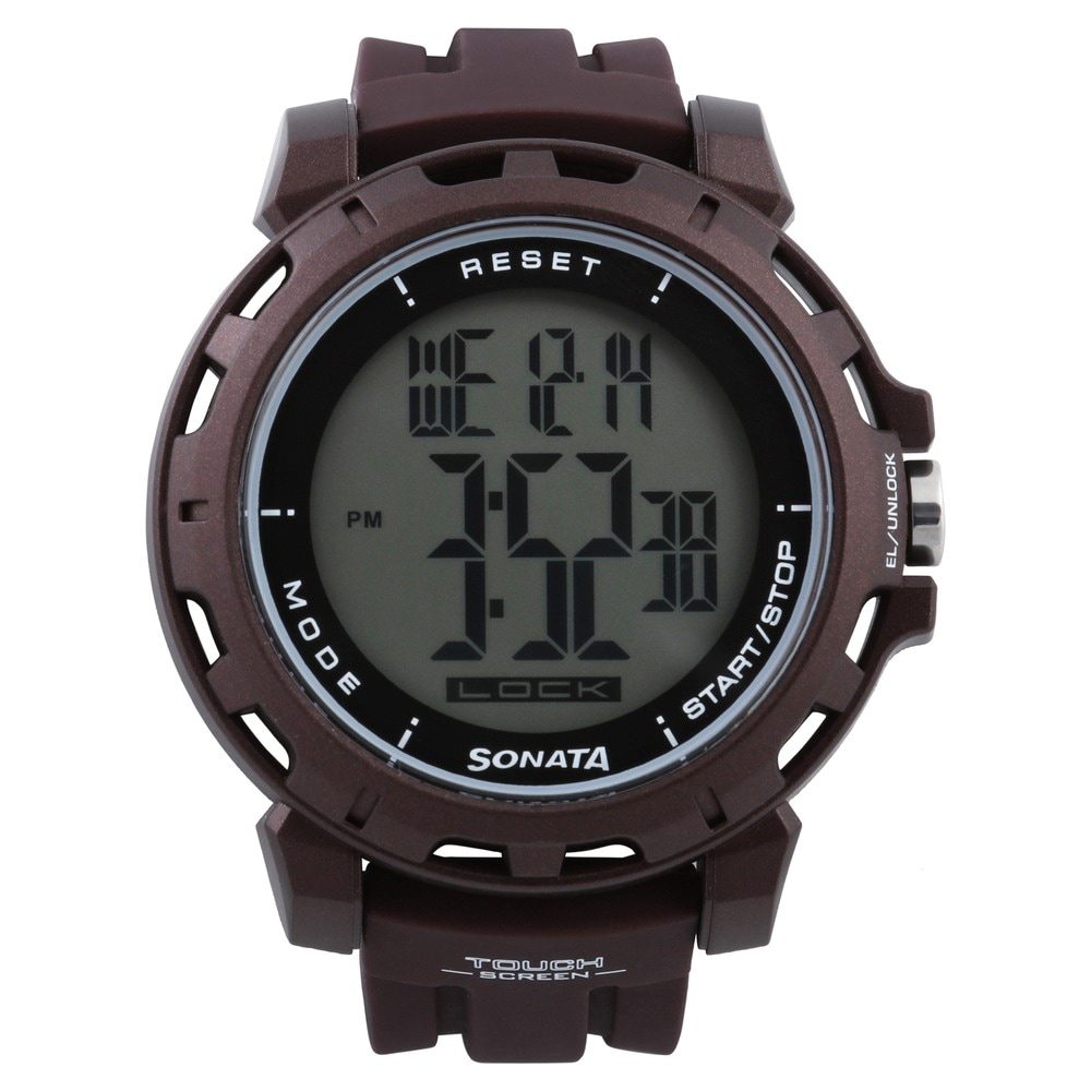 Buy SF Grey Round Dial Silicone Strap Digital Watches For Men ... c521aabcbd7
