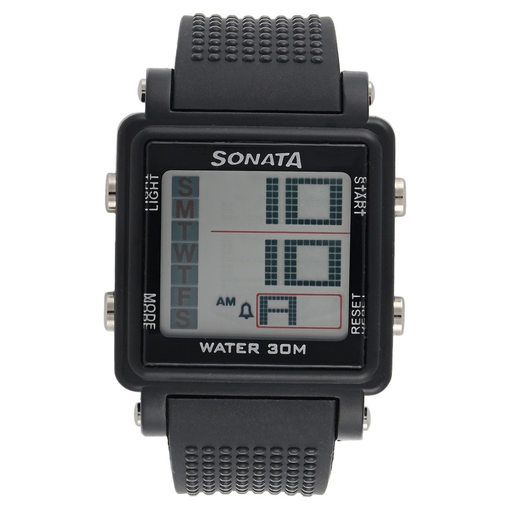 a67c1ff2f44 Buy SF Grey Square Dial Plastic Strap Digital Watch For Men NH77043PP01 Buy  Online at Best Price in India   Titan.co.in