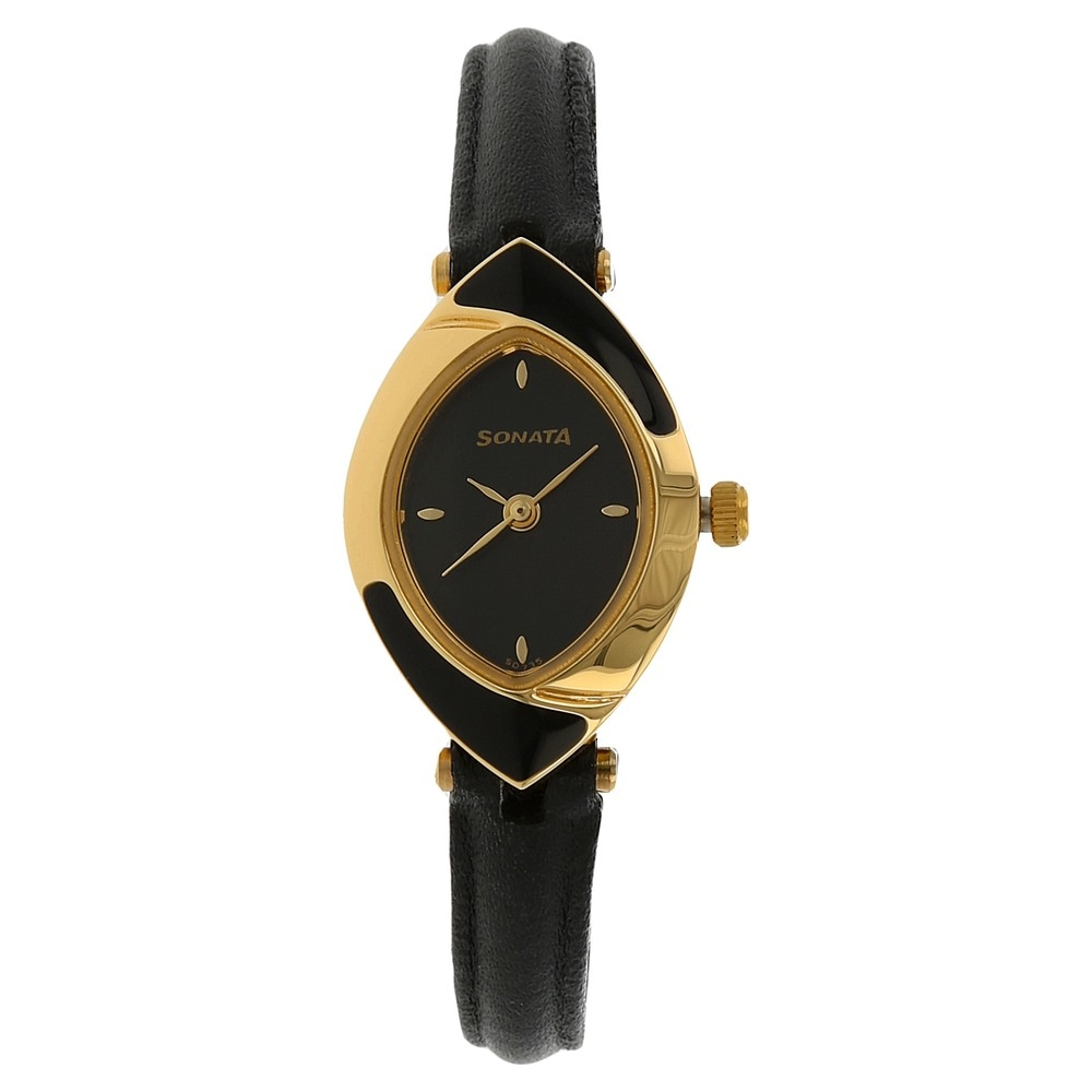 56dc2aff3 Buy Sonata Black Navette Dial Leather Strap Analog Watches For Women  NJ8069YL01C Buy Online at Best Price in India : Titan.co.in | Sonata
