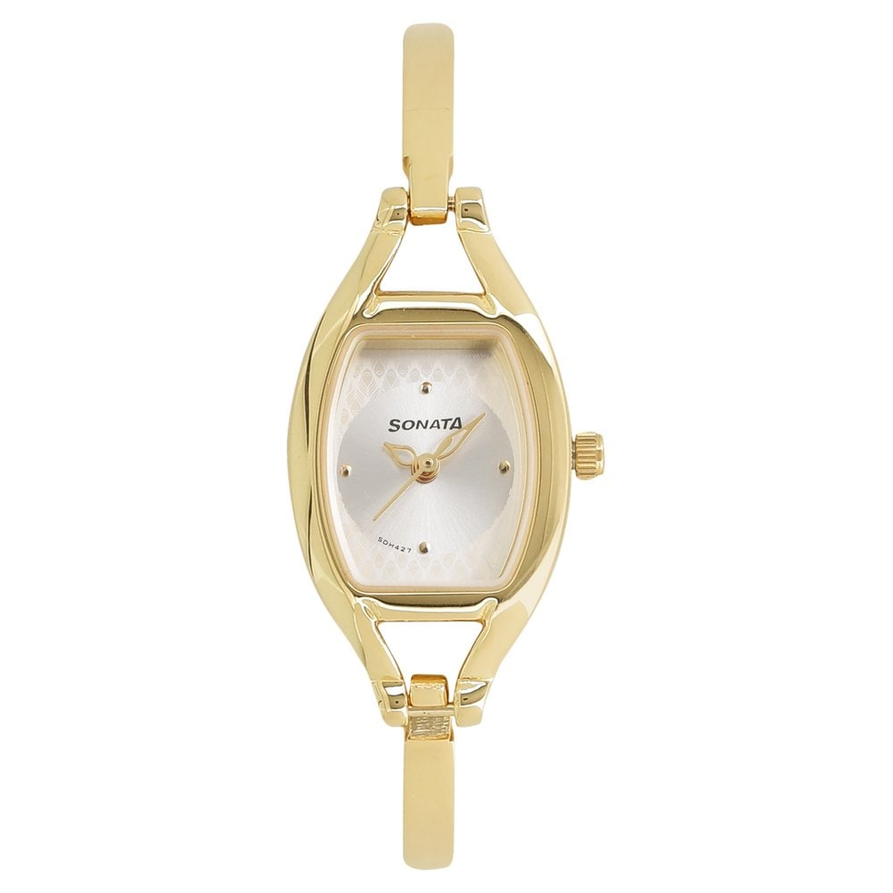 4ca105f9d0c Buy Sonata Silver Tonneau Dial Metal Strap Analog Watches For Women  8114YM06 Buy Online at Best Price in India   Titan.co.in