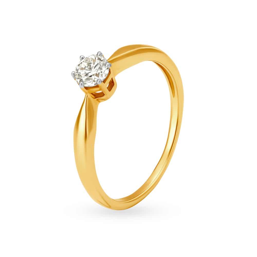 Buy Diamond Rings Online Latest Gold And Diamond Finger Ring Designs Tanishq,Singleton Design Pattern C