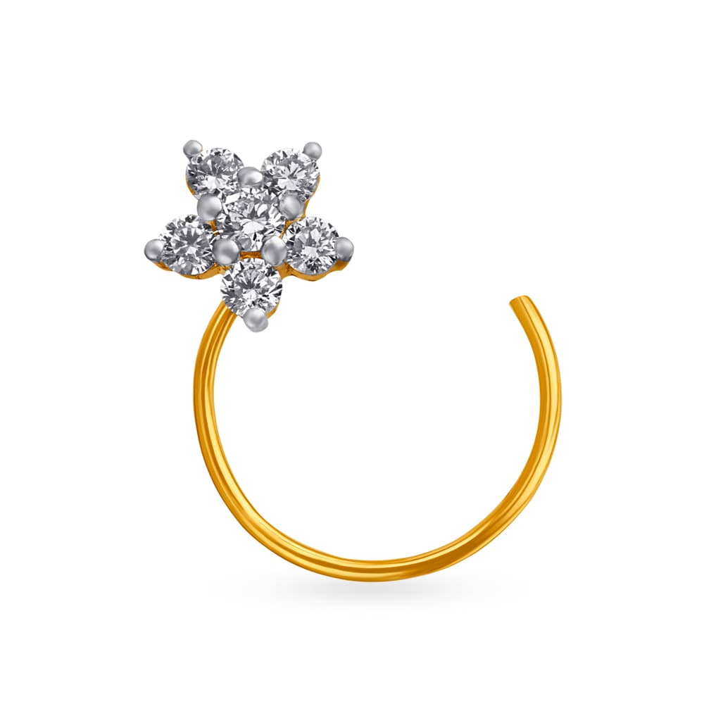Nose Ring Buy Diamond Nose Ring Online Latest Diamond Nose Pin
