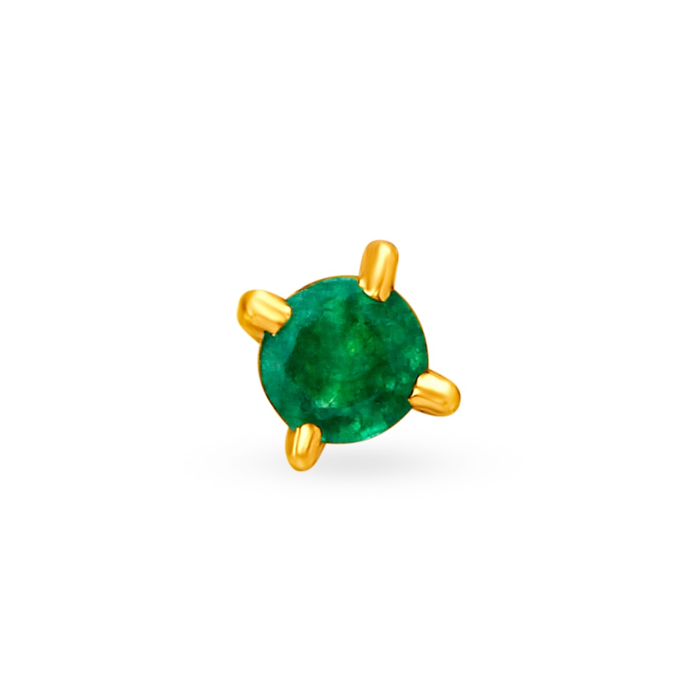 Buy Tanishq 18kt Gold Nose Pin For Women Online Tanishq Tanishq