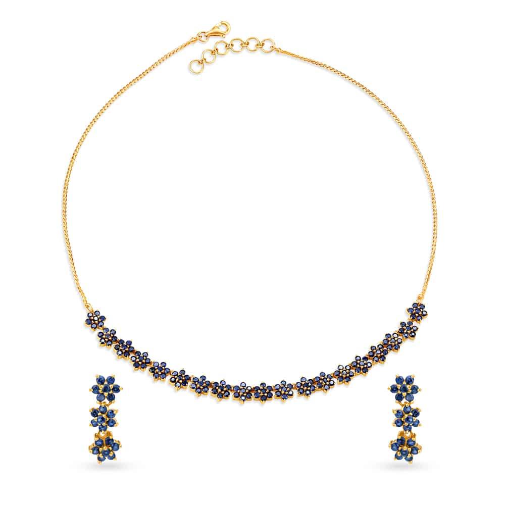 Neckwear Set Buy Latest Gold Diamond Necklace Set Designs Online At Tanishq