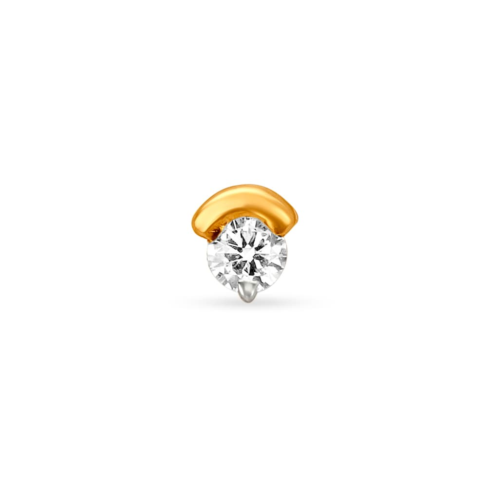 Buy Tanishq 18kt Gold And Diamond Circle Nose Pin Online Tanishq