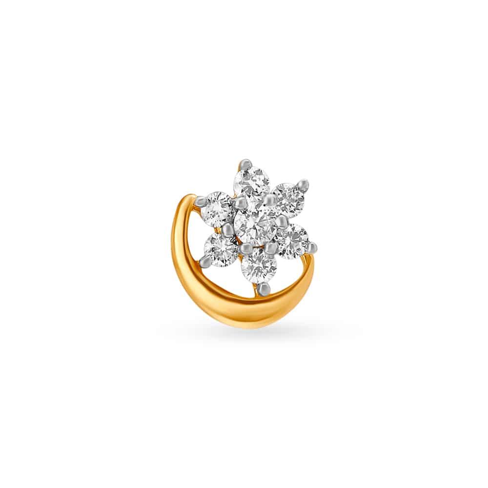 Nose Ring Buy Diamond Nose Ring Online Latest Diamond Nose Pin