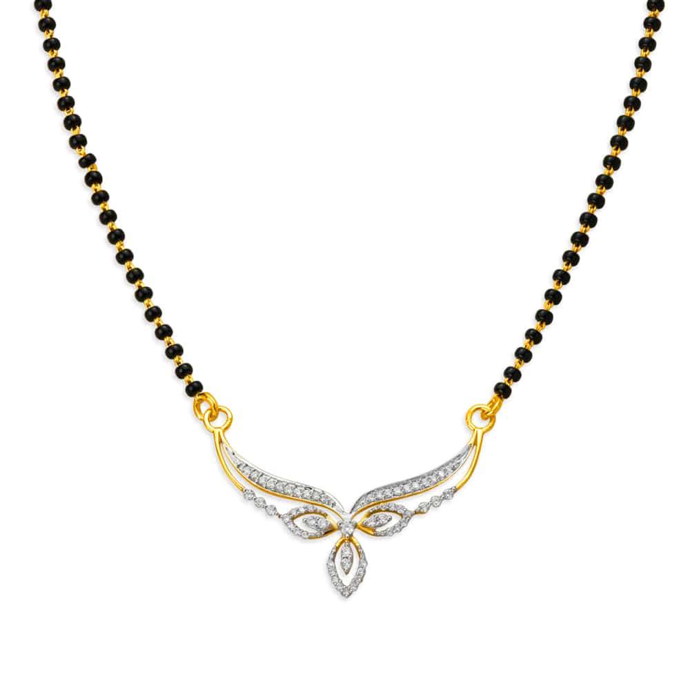 2c590d45cc696 Tanishq Diamond Mangalsutra - Buy Diamond Mangalsutra Designs Online