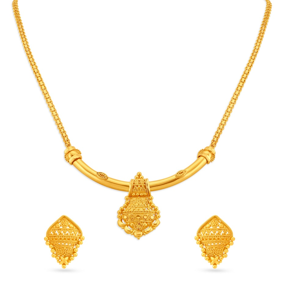 Yellow Gold Necklace Set