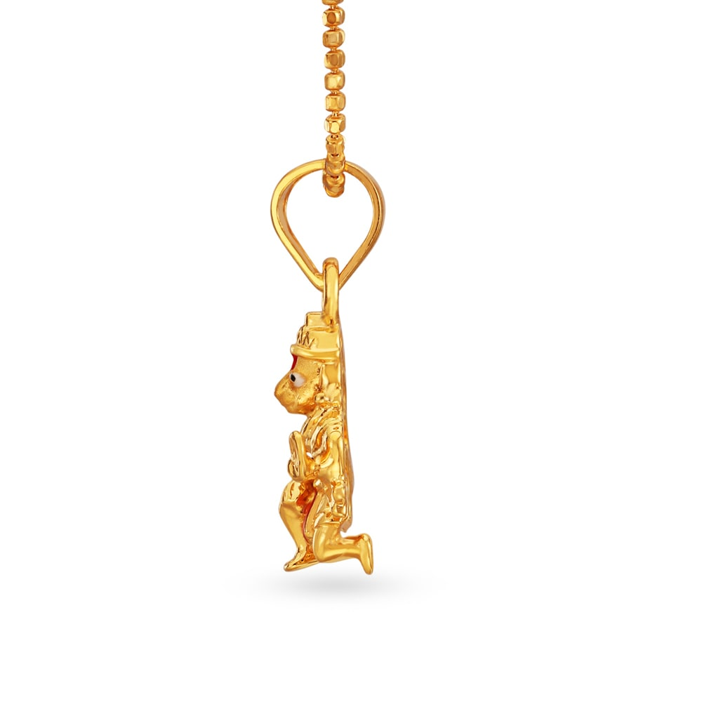 22KT Yellow Gold Hanuman Pendant