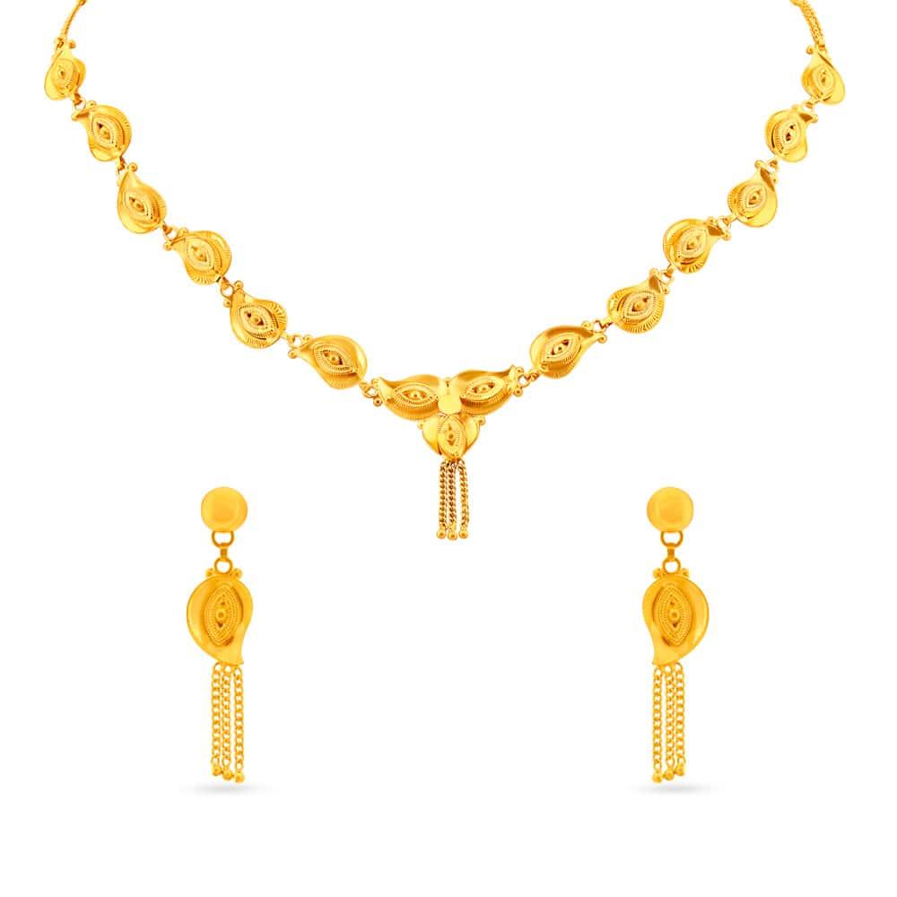 Neckwear Set Buy Latest Gold Diamond Necklace Set Designs
